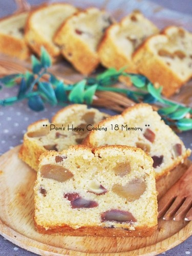 Pound Cake With Plenty of Chestnuts