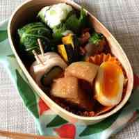 A Bento Featuring Shinshuu Miso Simmered Pork Belly