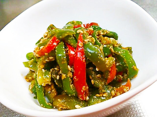 Green Pepper with Homemade Sesame Sauce