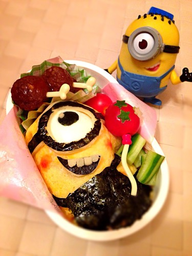 "Bento with Minions from ""Despicable Me"""