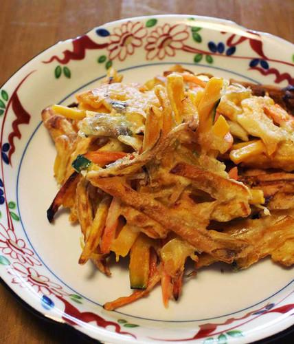 Myoga Ginger & Kabocha Fritters