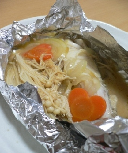 Cod Cooked in Foil