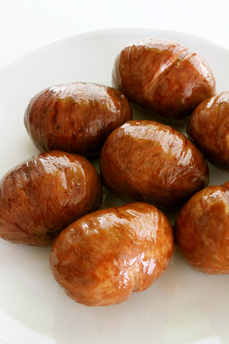 Chestnuts Simmered in Japanese Sake