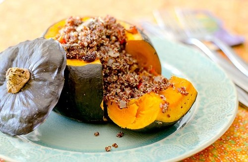 Kabocha Squash Stuffed With Quinoa