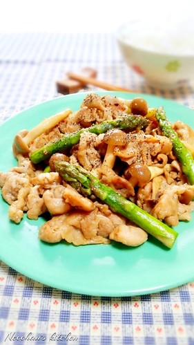 Pork and Asparagus with Butter Ponzu Sauce