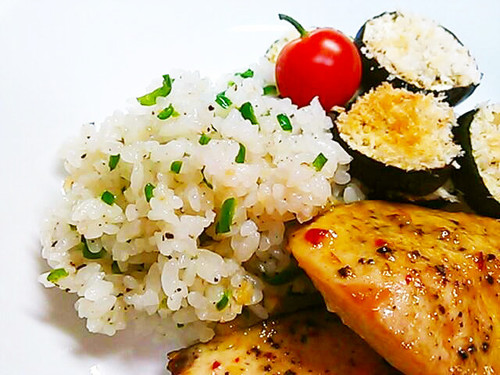 Colourful Garlic Rice