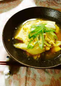 Quick Easy Simmered Egg and Tofu
