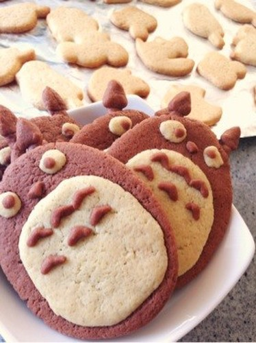 Totoro Biscuits with Pancake Mix and Simple Ingredients
