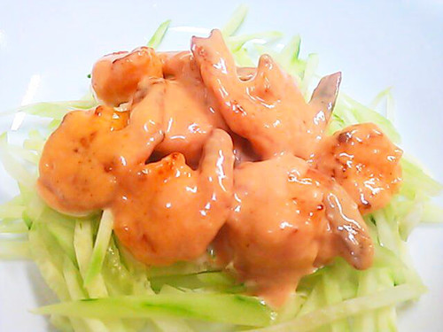 Real Chinese-style Shrimp with Mayo (Aurora Sauce)