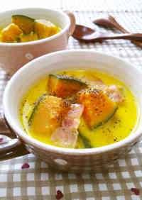 Kabocha Squash and Bacon in Buttery Milk Soup