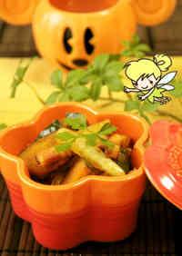 Curry-Flavored Pumpkin & Bacon Garlic-Butter Stir-Fry