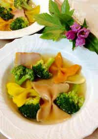 Macaroni Soup with Broccoli and Bacon