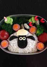 So Simple!! Shaun the Sheep Character Bento