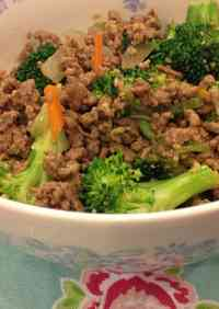 Broccoli & Ground Beef Stir-fry