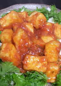 Mock Sweet and Sour Chili Prawns with Tofu