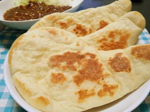 Easy Homemade Naan Bread (Plain or with Basil)