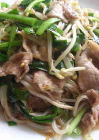 Pork, Bean Sprout and Chinese Chive Stir-Fry