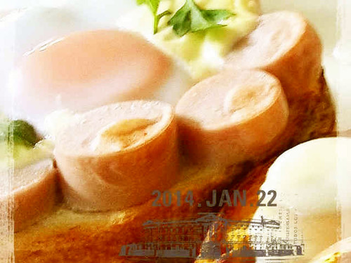 Fish Sausage Flower Toast!