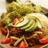 Tofu Vegetarian Taco Rice
