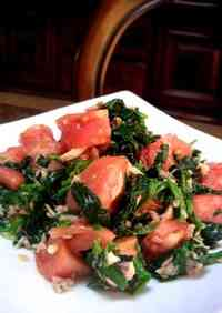Spinach and Tomato Tuna Dressing