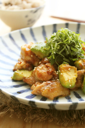 Refreshing Umeboshi-Flavored Teriyaki Chicken & Avocado