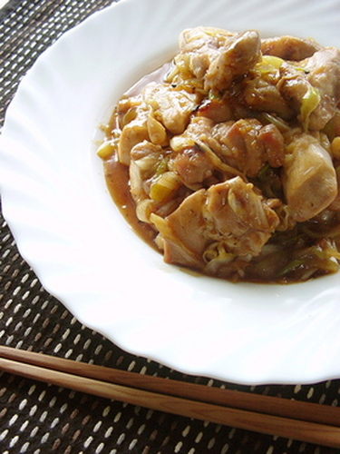 Japanese Leek & Chicken in Sweet and Sour Sauce