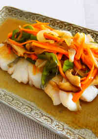 Pacific Cod and Vegetables with Sweet Vinegar Ankake Sauce