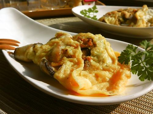 Herb & Shiitake Cheese Omelette