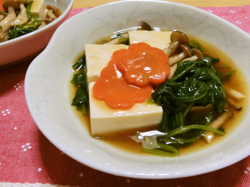 Silken Tofu with Thick Ankake Sauce