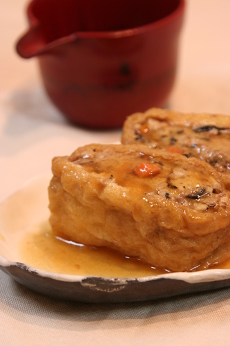 Soft Simmered Inari With Sauce