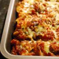 Vegetarian Lasagna with Aubergine and Zucchini