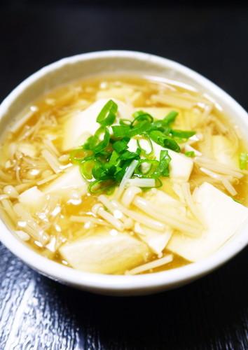 Easy Cooking in One Pot - Silken Tofu with Mushroom Ankake Sauce