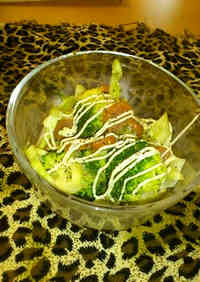Easy Microwaved Broccoli with Mayonnaise and Ponzu
