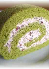 Roll Cake Matcha Green Tea with Adzuki Cream