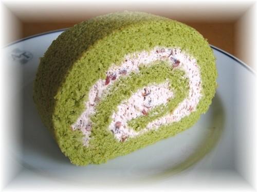 Roll Cake Matcha Green Tea with Adzuki Cream