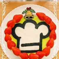 Cookpad Logo Christmas Wreath Cake