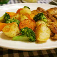 Root Vegetable and Broccoli Grill