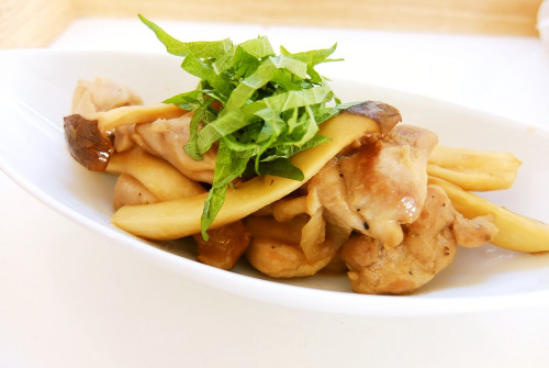 Chicken Thigh and King Oyster Mushroom Butter Ponzu Stir-fry