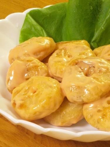 Thrifty Mock Shrimp in Mayonnaise Sauce (with Okara)