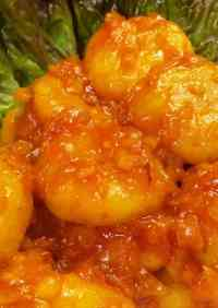 Budget-Friendly Mock Chili Prawns with Okara