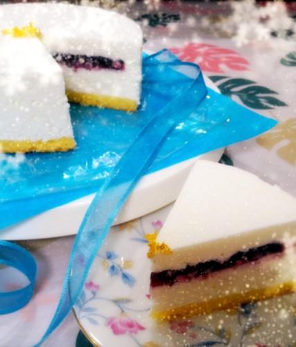 Snowy White Cheesecake Made with Yogurt
