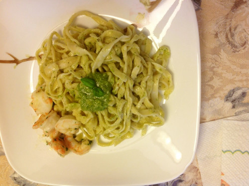 Homemade Pasta & Basil Pesto