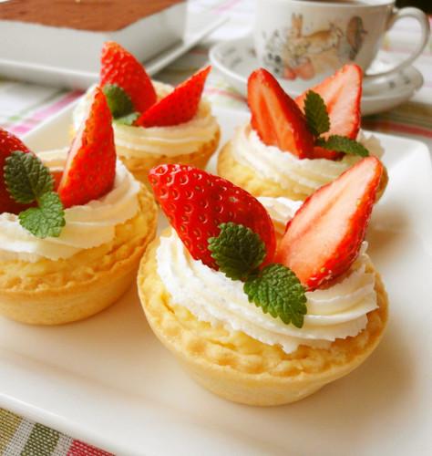 Easy Strawberry Custard Tart
