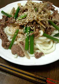 Udon Noodles With Meat In Only 3 Minutes
