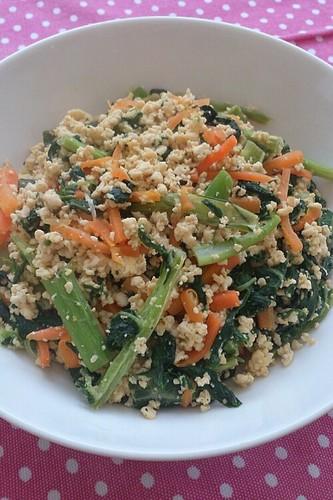 Soboro Style Tofu & Stir-Fried Vegetables