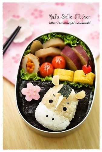 To Celebrate the New Year: Horse Bento Character Bento