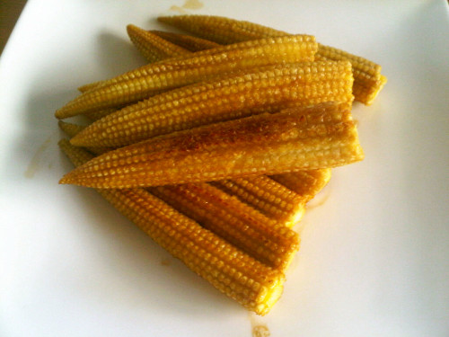 Young Corn with Butter and Soy Sauce in 5 Minutes