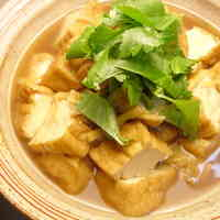 Simmered Atsuage with Sweet & Salty Ginger