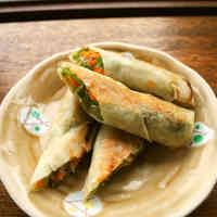 Vegetarian Fried Spring Rolls
