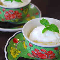 Easy Frozen Yogurt with Lychee Liqueur
